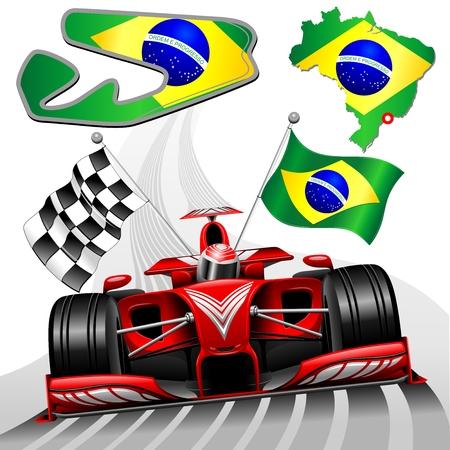 Red Race Car GP Brazil