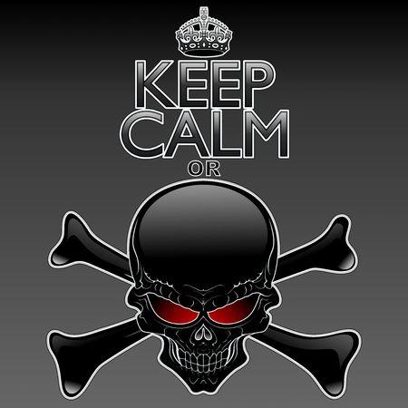 parody: Keep Calm or Die  Black Skull