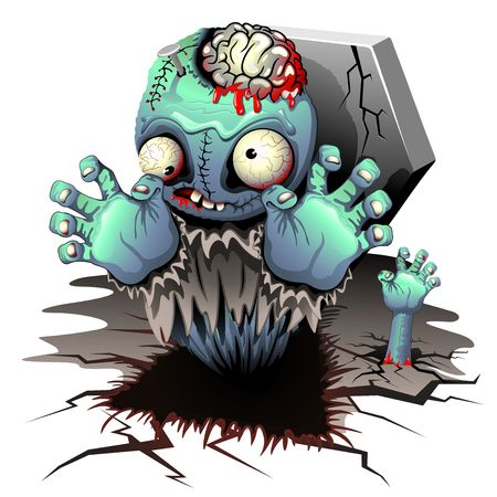 Zombie Monster Cartoon Doll Vector