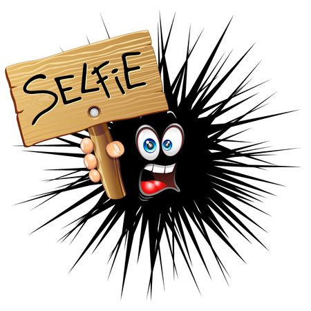 Selfie Fun Cartoon Face Illustration