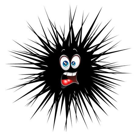Scared Fun and Hairy Cartoon Character