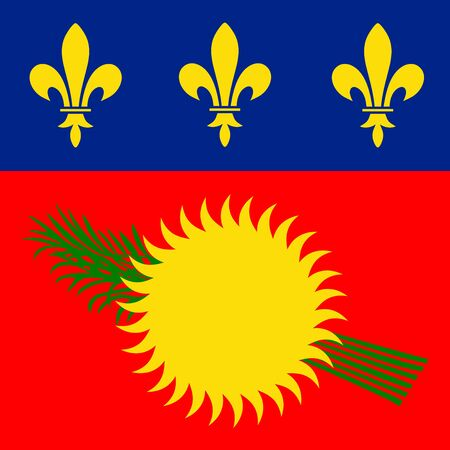 guadeloupe: Guadeloupe Flag Red Variant Illustration
