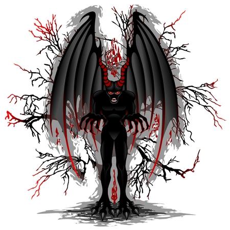 Evil Demon Spirit Illustration