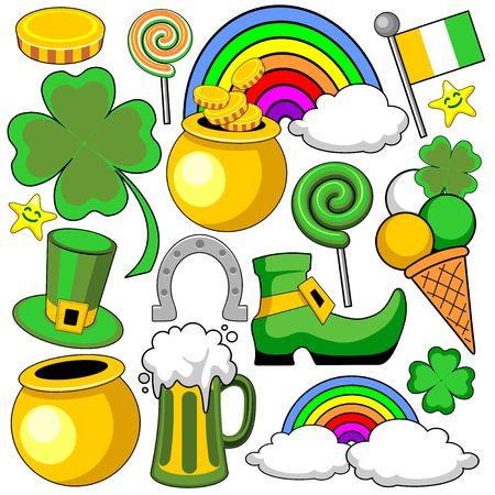 horse shoe: Doodles St Patrick Day