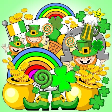 St Patrick Doodles Saga Illustration