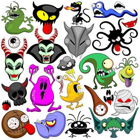 Doodles Monsters Characters Vector