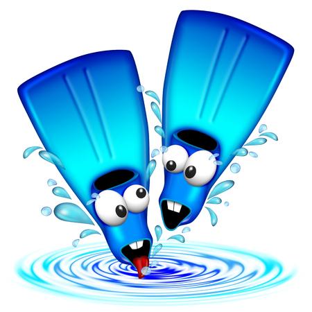 flippers: Diversi�n Flippers Fins Cartoon