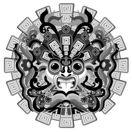 Aztec Sun Mask Vector