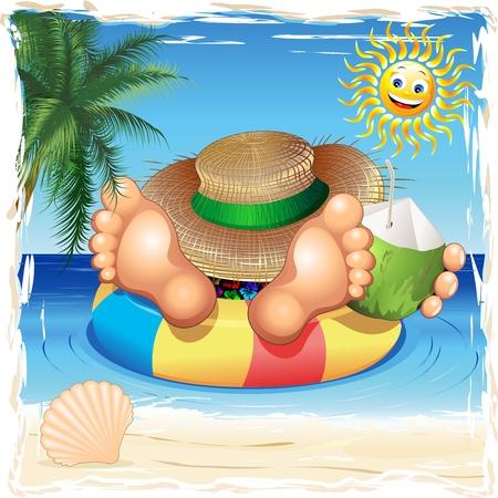 El verano se relaja en el mar Foto de archivo - 39086438