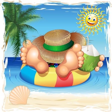 Summer Relax on the Sea Stock Vector - 39086438