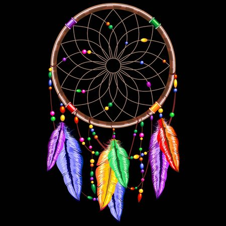 dreamcatcher: Dreamcatcher Rainbow Feathers