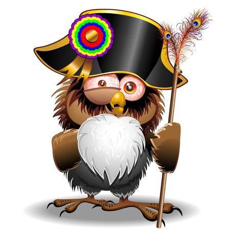 Crazy Owl Cartoon Napoleon Bonaparte