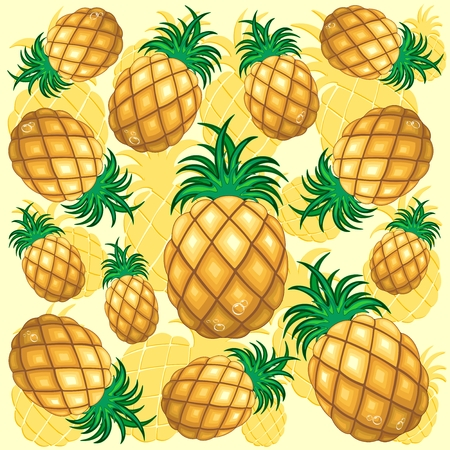 Pineapple Juicy Pattern Иллюстрация