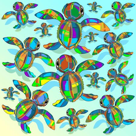 baby turtle: Baby Sea Turtle Fabric Toy Pattern