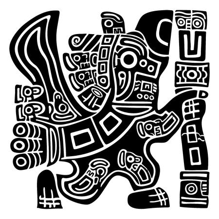 Guila Azteca Del Guerrero Del Cráneo Ilustraciones Vectoriales Clip