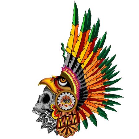 skull mask: Aztec Eagle Warrior Skull