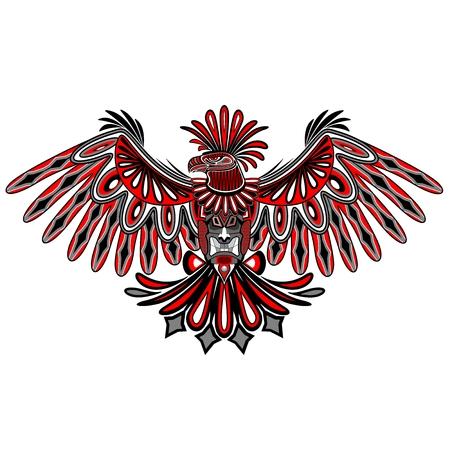 aguila real: Arte del tatuaje de Eagle Estilo Haida