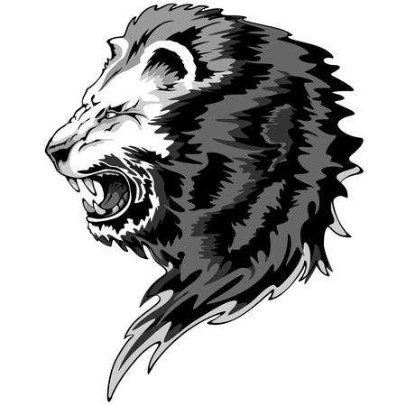 roar: King Lion Roar Illustration