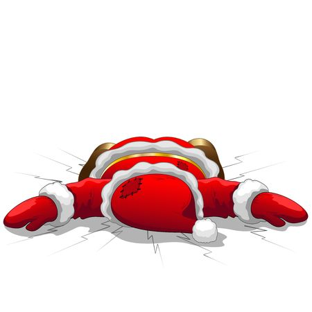 knock out: Christmas Santa is Dead Illustration