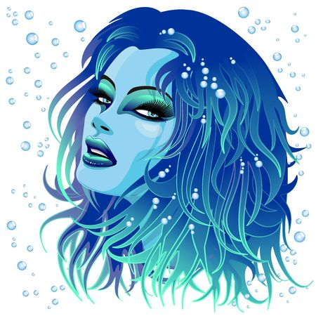 Aqua Girl Sensual Face