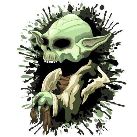 star wars: Skull Yoda Jedi Master