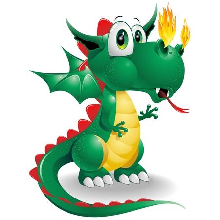 dragones: Dragón del bebé lindo de la historieta