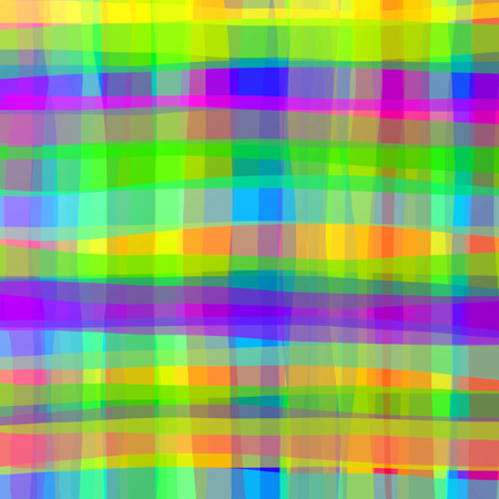 Psychedelic Bright Colors looking like irregular exchequer fabric texture. Originally Created on Graphic Art Technique.