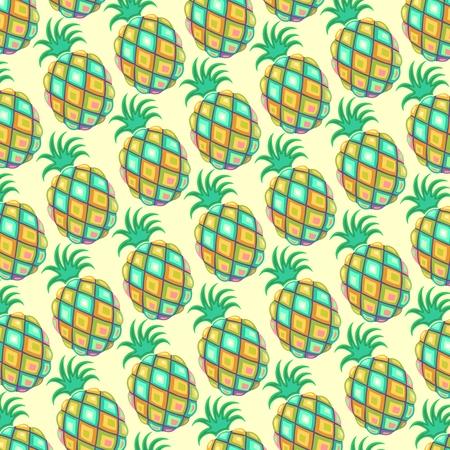 artsy: Pineapple Pastel Colors Pattern