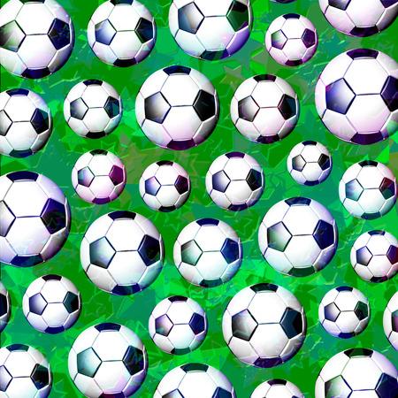 Football Soccer Ball Pattern Stock Photo
