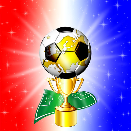 Football Championship Golden Cup Stock Photo