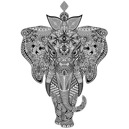 artsy: Elephant Doodle Art