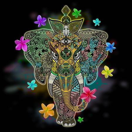 Elephant Doodle Art