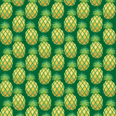 Pineapple Pattern Fabric Illustration