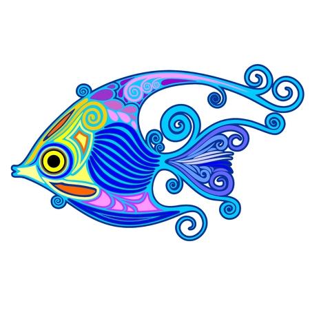 Exotic Fish Tattoo Decorative-2
