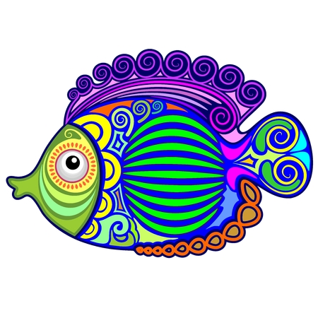 Exotic Fish Tattoo Decorative-3