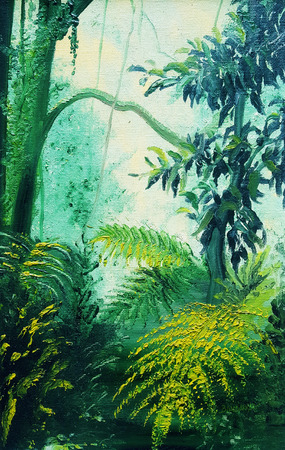 Rainforest Lights and Shadows painting