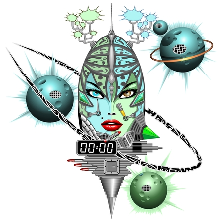 Girl Cyber Fantasy Robot