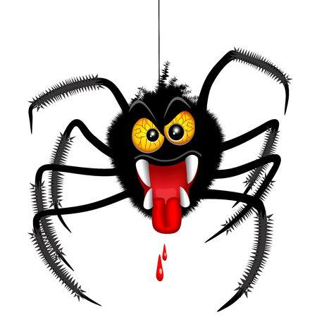 Halloween Spider Spooky Cartoon Character Illustration
