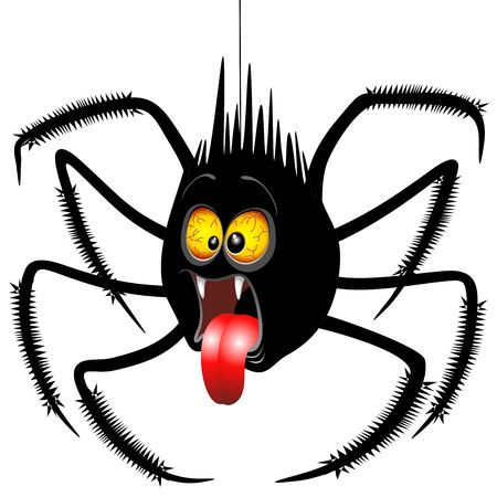 Spider Horrified Fun Cartoon Character