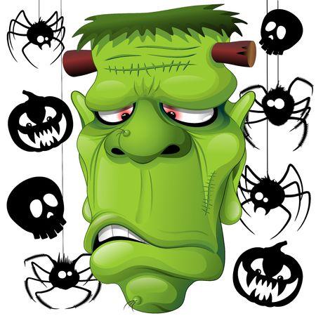 Frankenstein Spiders Skulls and Pumpkins