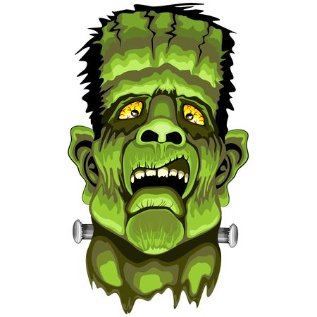 disgusted: Frankenstein Zombie Horror Face