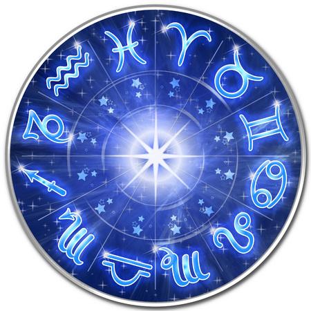 干支は青い銀河円にサインします