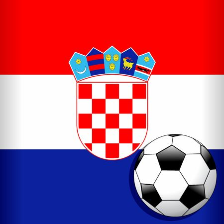 Croatia Flag with Soccer Ball Football WorldCup Stock Vector - 103541883