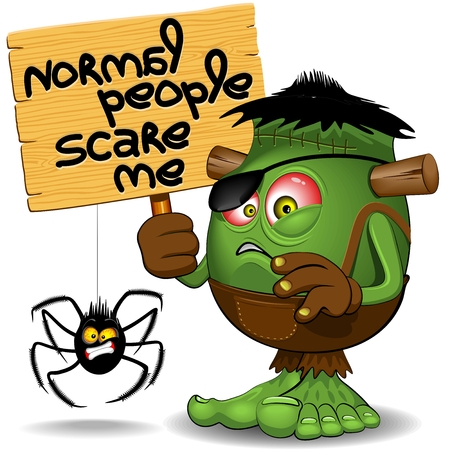 'Normal People Scare Me' Humorous Character Stock Illustratie