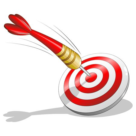 Arrow and Target Success Logo Vector Illustration