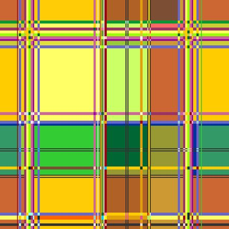 Caribbean Colorful Fabric Madras Vector Seamless Pattern Texture Illustration