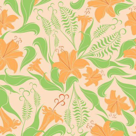 Floral Delicate Springtime Seamless Pattern Vector Textile Design