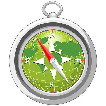 Compass Navigation Vector Object isolated on white Ilustração