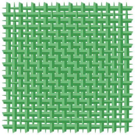 Green Coconut Woven Leaf Vector Background Ilustração