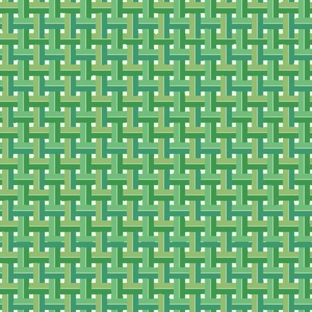 Woven Coconut Leaves Vector Seamless Pattern Background